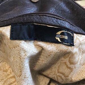 Just Cavalli lambskin brown bag
